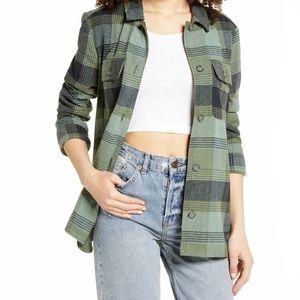BP Plaid Flannel Shirt Jacket